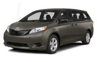 3/4 Front Glamour 2014 Toyota Sienna