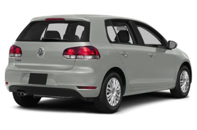 3/4 Rear Glamour  2014 Volkswagen Golf