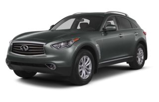 3/4 Front Glamour 2015 Infiniti QX70