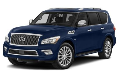 3/4 Front Glamour 2015 Infiniti QX80