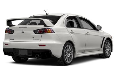 3/4 Rear Glamour  2015 Mitsubishi Lancer Evolution