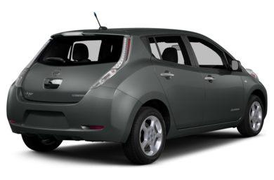 3/4 Rear Glamour  2015 Nissan LEAF