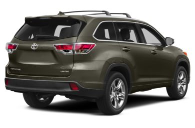 3/4 Rear Glamour  2014 Toyota Highlander