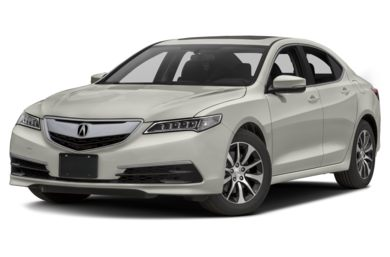 3/4 Front Glamour 2016 Acura TLX