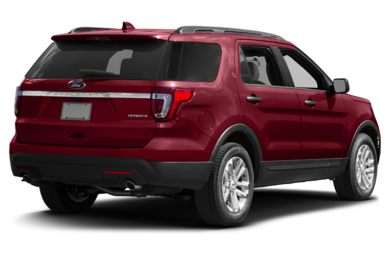 3/4 Rear Glamour  2017 Ford Explorer