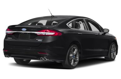 3/4 Rear Glamour  2017 Ford Fusion