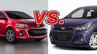chevrolet spark vs chevrolet sonic carsdirect. Black Bedroom Furniture Sets. Home Design Ideas