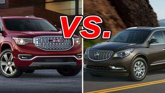 Buick Enclave Vs Acura Mdx 2014 >> GMC Acadia vs. Buick Enclave - CarsDirect