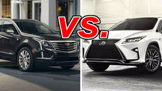cadillac xt5 vs lexus rx 350 carsdirect. Black Bedroom Furniture Sets. Home Design Ideas