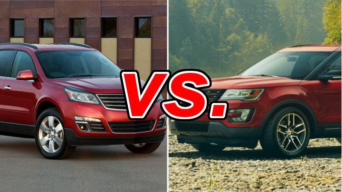 Chevrolet Traverse vs Ford Explorer  CarsDirect