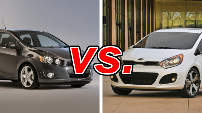 Chevrolet Sonic vs Kia Rio  CarsDirect