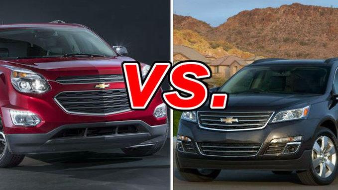 Chevrolet Equinox vs Chevrolet Traverse  CarsDirect