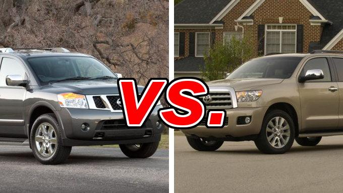 Nissan Armada vs Toyota Sequoia  CarsDirect