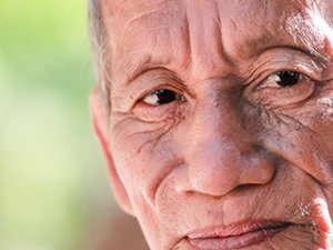 Image of an elderly man's face.