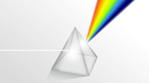 prism with rainbow