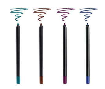 Image of 4 different eyeliners in different colors.