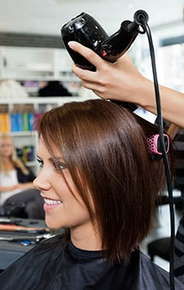 Image of a woman at a hair salon.