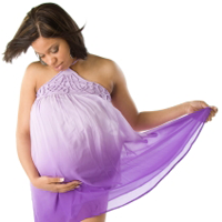 image of pregnant woman holding her belly