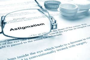 the word astigmatism in bold
