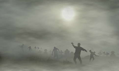Zombies rising from the dead