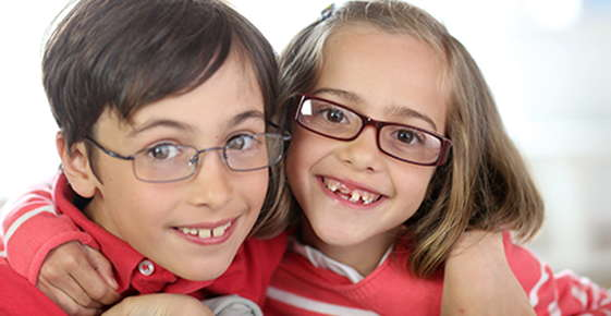 Image of kids wearing glasses.