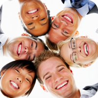 image of group of happy people.