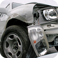 close up image of an automobile crash