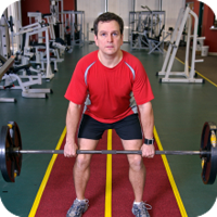 image of man lifting weights