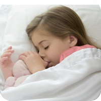 image of sleeping young girl