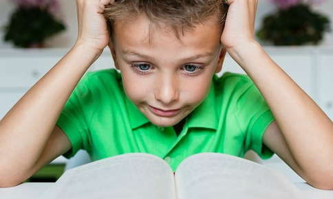 Child with difficulty reading