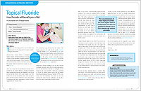 Topical Fluoride - Dear Doctor Magazine
