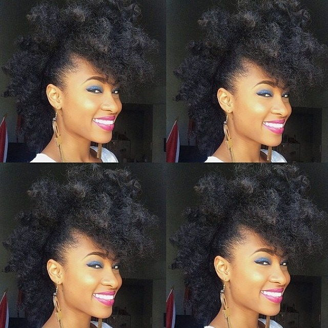 series of african american woman curly hair