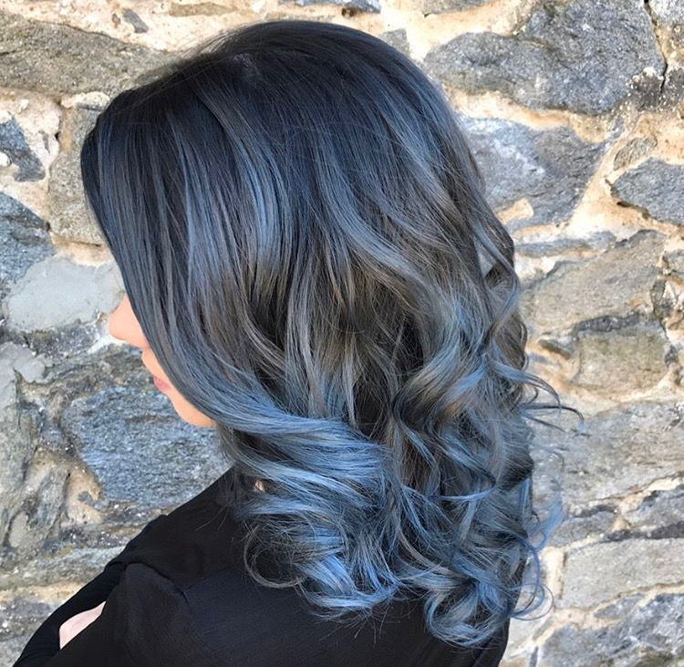 gun metal blue hair