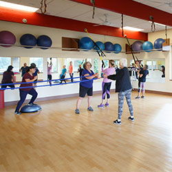 Group working out at Nanaimo health Club