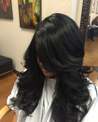 Long Curls Black Hair