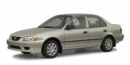 3/4 Front Glamour 2002 Toyota Corolla