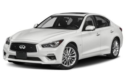 3/4 Front Glamour 2020 INFINITI Q50