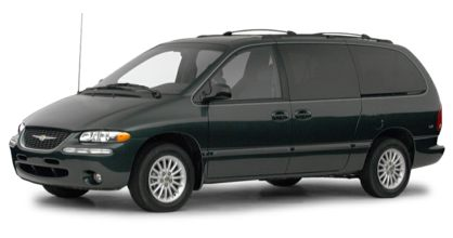 3/4 Front Glamour 2000 Chrysler Town & Country
