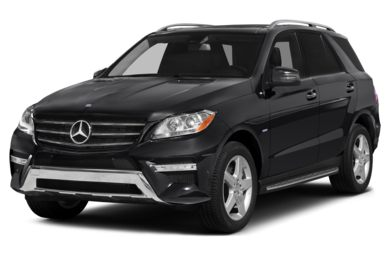3/4 Front Glamour 2012 Mercedes-Benz ML550