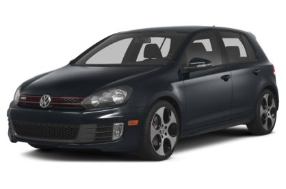 3/4 Front Glamour 2014 Volkswagen GTI