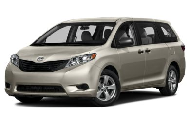 3/4 Front Glamour 2016 Toyota Sienna