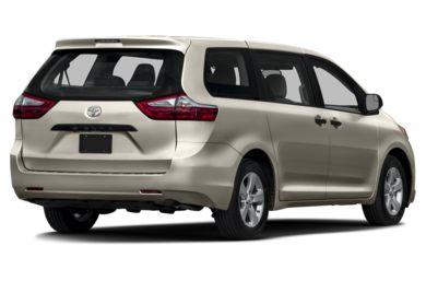3 4 Rear Glamour 2016 Toyota Sienna