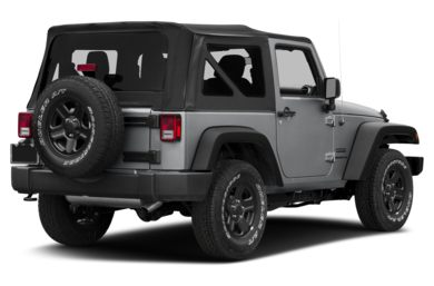 3/4 Rear Glamour  2017 Jeep Wrangler