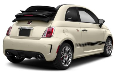 3/4 Rear Glamour  2018 FIAT 500c