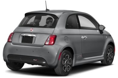 3 4 Rear Glamour 2019 Fiat 500e