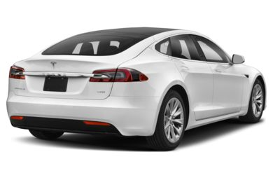 3/4 Rear Glamour  2017 Tesla Model S