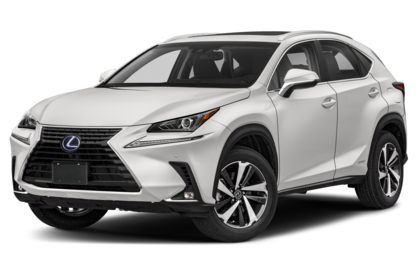3/4 Front Glamour 2020 Lexus NX