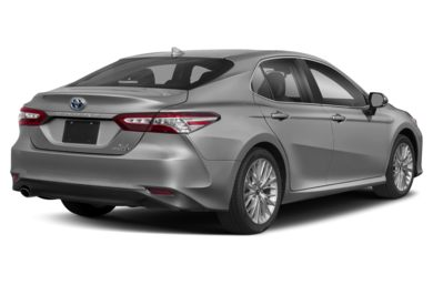 3/4 Rear Glamour  2019 Toyota Camry Hybrid