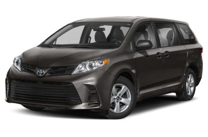 3/4 Front Glamour 2020 Toyota Sienna