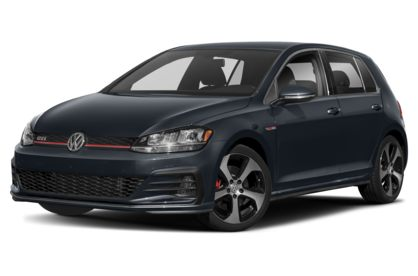 3/4 Front Glamour 2020 Volkswagen GTI